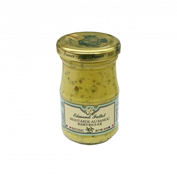 Fallot Basil Dijon Mustard - Glass jar 105 G