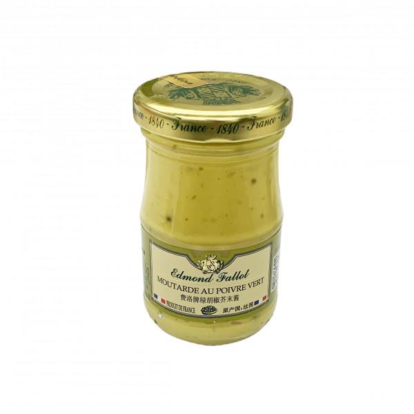 Fallot Green Peppercorn Dijon Mustard - Glass Jar 105 G