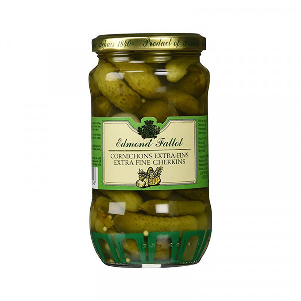 Fallot Extra Fine Gherkins in Vinegar - Glass Jar