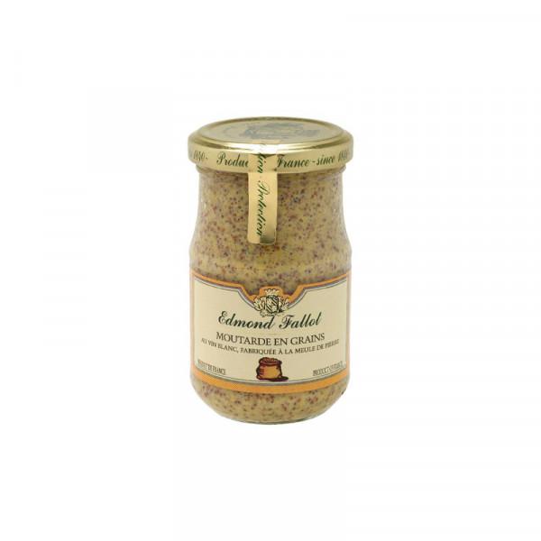 Fallot Seed Style White Wine Dijon Mustard - Glass Jar