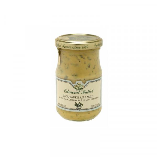 Fallot Basil Dijon Mustard - Glass jar
