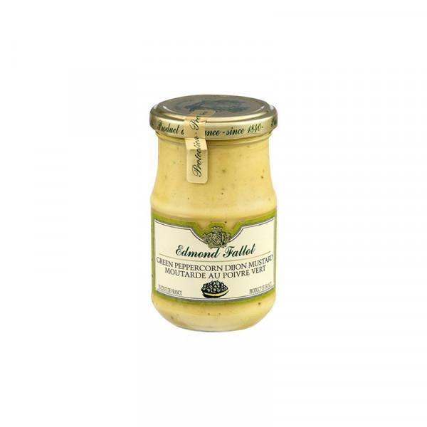 Fallot Green Peppercorn Dijon Mustard - Glass Jar