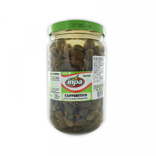 Inpa Caperberries in Brine (Glass Jar)