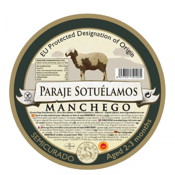 Vega Mancha Manchego Cheese Semicurado (Aged 2-3 months)