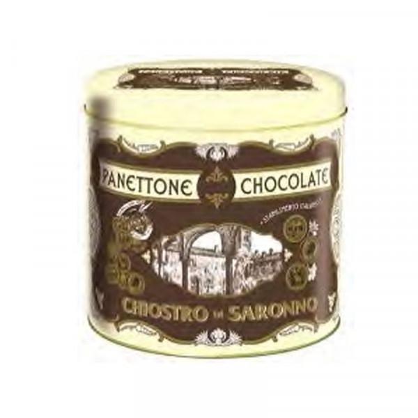 Lazzaroni Panettone Chocolate Metal Tin Cornice