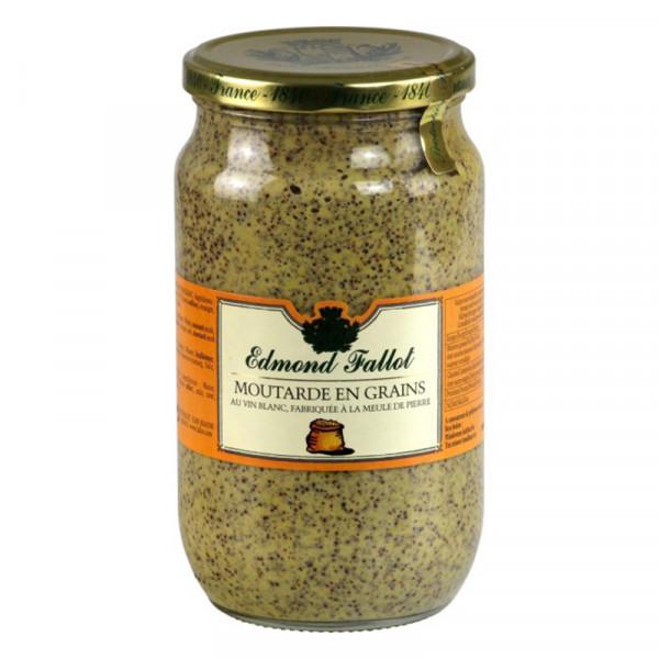 Fallot Seed Style White Wine Dijon Mustard - Glass Jar (screw cork)