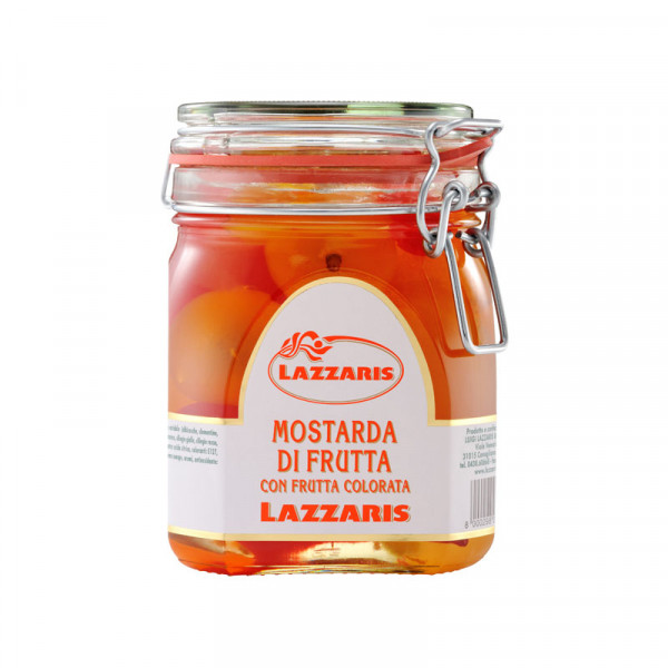Lazzaris Whole coloured fruit mustard (Mostard)